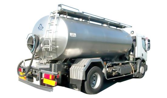 Cisterna per il trasporto del latte